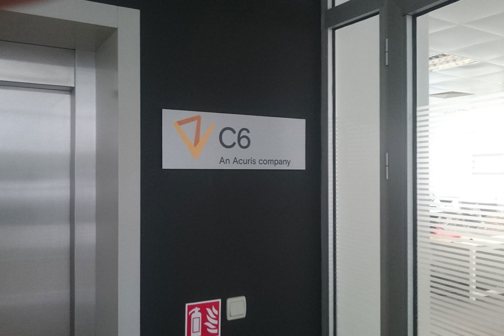 C6 sign on the wall