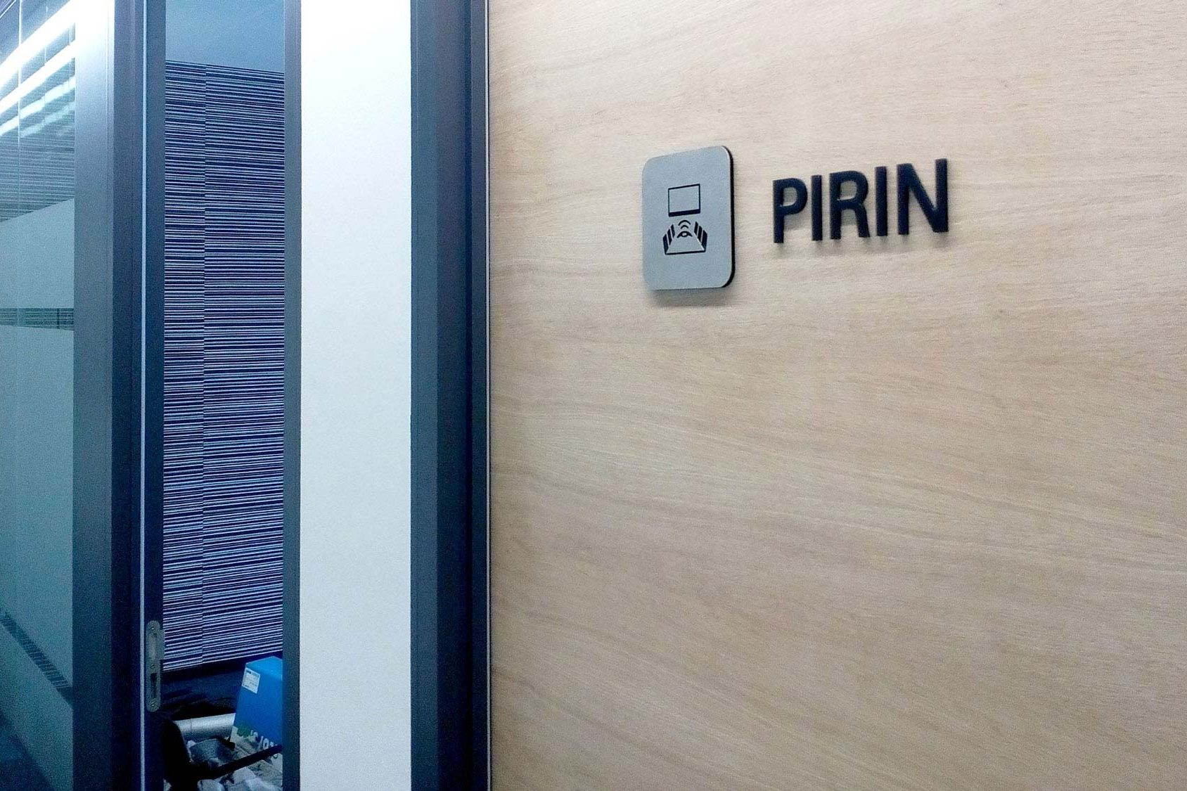 "PVC door sign ""Pirin"""